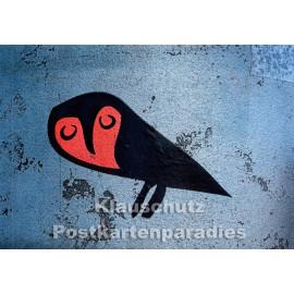 Eule | Huraxdax Graffiti Postkarte
