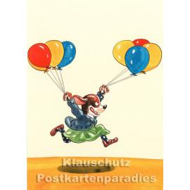 Postkarte aus dem 'Peter Hammer Verlag' von Leonard Erlbruch - Hundemädchen