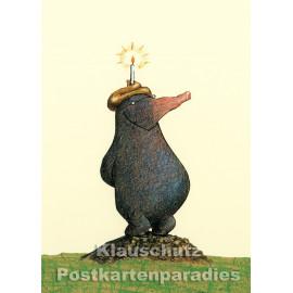 Postkarte aus dem 'Peter Hammer Verlag' von Wolf Erlbruch - Der kleine Maulwurf