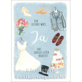 Ein kleines Wort, JA | SkoKo Little Greetings Midi-Doppelkarte