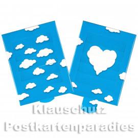 Lebende Postkarte - Wolkenherz (beide Seiten)