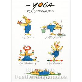 Peter Gaymann - Yoga für Osterhasen Ostern Postkarte