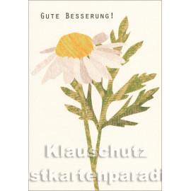 Holzschliffpappe Postkarte von Studio Blankensteyn | Gute Besserung - Kamille