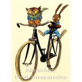 Postkarte aus dem 'Peter Hammer Verlag' von Wolf Erlbruch - Fahrradspaß