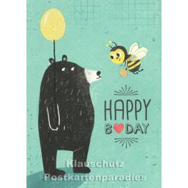 Happy B-Day | Little Greetings Midi-Doppelkarte