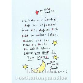 Liebe und so | Postkarte von Discordia / karindrawings