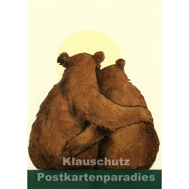 Postkarte: Bärenglück | Aus dem Wolf Erlbruch-Kinderkalender aus dem Peter-Hammer-Verlag