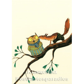 Eichhörnchen | Postkarte von Wolf Erlbruch aus dem Peter-Hammer-Verlag