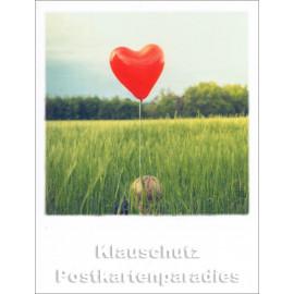 Mini-Polacard von Taurus mit rotem Luftballon