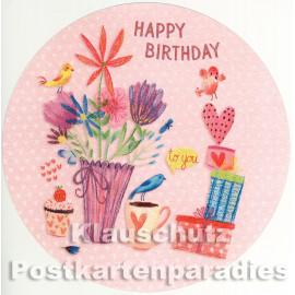 Runde Geburtstagskarte von ActrTre | Happy Birthday