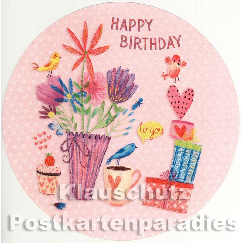 Runde Geburtstagskarte von ActrTre   Happy Birthday
