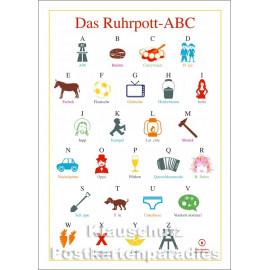 Das Ruhrpott-ABC - Cityproducts Postkarte