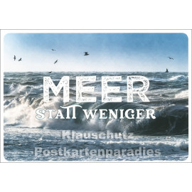 Meer statt weniger - SkoKo Küsten Postkarte