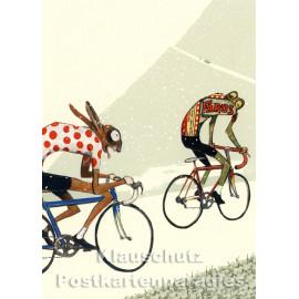 Tour de France | Postkarte von Wolf Erlbruch aus dem Peter-Hammer-Verlag