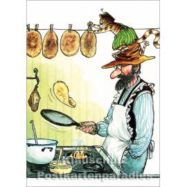 Pettersson und Findus machen Pfannkuchen | Kinder Postkarten