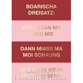 Boarischa Dreisatz   Goldfarbene Cityproducts Bayernkarte
