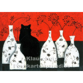 Katze | Postkarte, teillackiert