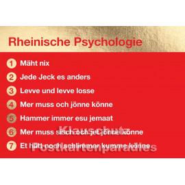 Rheinische Psychologie - goldfarbene Cityproducts Postkarte