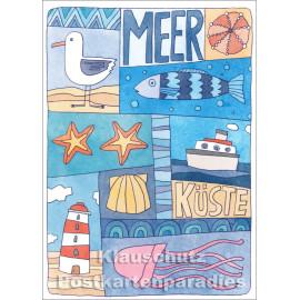 Meer - Küste | SkoKo Postkarte