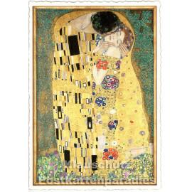 Kunst Glitterkarte | Gustav Klimt - Der Kuß