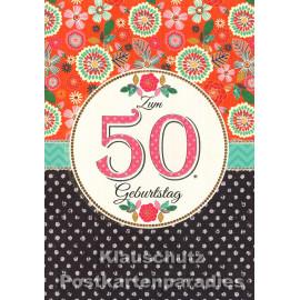 Runder Geburtstag Taurus Doppelkarte | Zum 50. Geburtstag