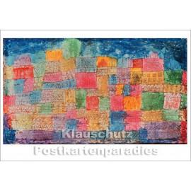 Taurus Kunst Postkarte   Paul Klee   Bunte Landschaft