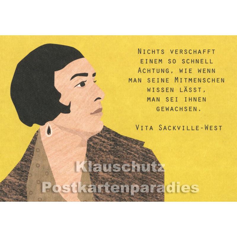 Holzschliffpappe Zitat Postkarte von Studio Blankensteyn | Vita Sackville-West