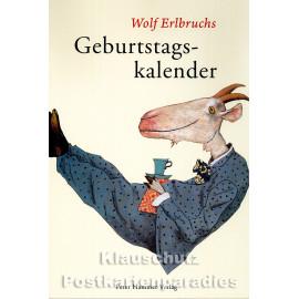Geburtstagskalender von Wolf Erlbruch aus dem Peter-Hammer-Verlag - Vorderansicht