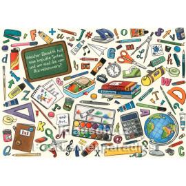 Wimmelbild Postkarte von SkoKo | Welcher Bleistift hat eine kaputte Spitze?