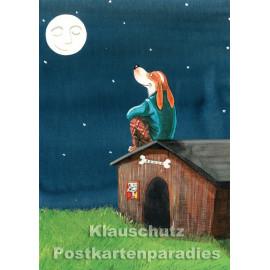 Postkarte aus dem 'Peter Hammer Verlag' von Leonard Erlbruch - Hundehütte