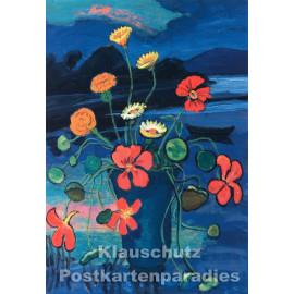 Taurus Kunst Doppelkarte mit Umschlag | Gabriele Münter | Blumenstillleben
