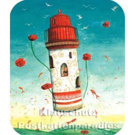 Fliegender Leuchtturm | Correspondances Postkarte