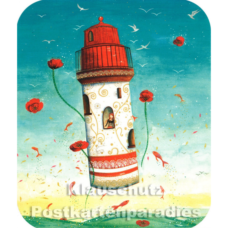 Fliegender Leuchtturm   Correspondances Postkarte