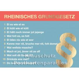 Postkarte Rheinisches Grundgesetz von Cityproducts