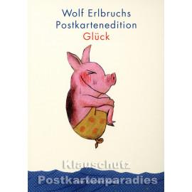 Wolf Erlbruch Postkartenbuch 'Glück' - Titelbild