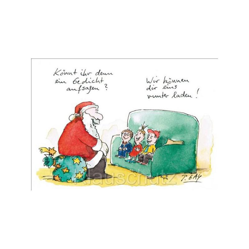 weihnachtskarte postkarte gaymann gedicht aufsagen. Black Bedroom Furniture Sets. Home Design Ideas