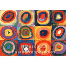 Kunstkarte   Wassily Kandinsky   Quadrate mit konzentrischen Ringen