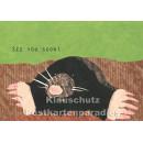 Holzschliffpappe Postkarten von Studio Blankensteyn | Maulwurf - See you soon