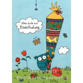 Alles Gute zur Einschulung - Postkarte von SkoKo