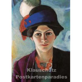 Taurus Kunst Postkarte   August Macke   Portrait Elisabeth
