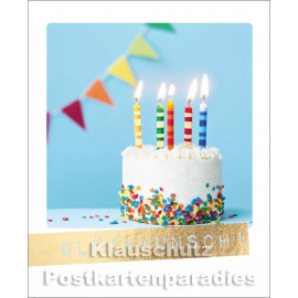 Cityproducts Happymemories Geburtstag Postkarte - Glückwunsch! Mit goldfarbener Lackierung