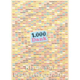 Discordia Postkarte um Danke zu sagen - 1.000 Dank
