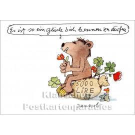 Janosch Postkarte von Little Tiger - Es ist so ein Glück Dich kennen zu dürfen