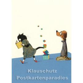 Klötzchenturm | Postkarte von Wolf Erlbruch aus dem Peter-Hammer-Verlag