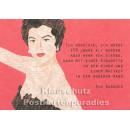 Holzschliffpappe Zitat Postkarte von Studio Blankensteyn   Ava Gardner