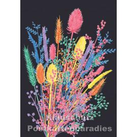 Schöne Doppelkarte von Discordia mit getrockneten Blumen