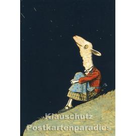 Sternenhimmel | Postkarte von Wolf Erlbruch aus dem Peter-Hammer-Verlag