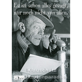 Es ist schon alles gesagt | Karl Valentin -  Zitat Postkarte von Huraxdax