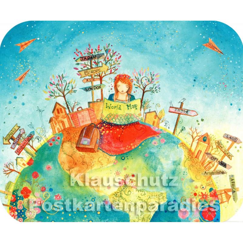 Globe-Trotteuse | Correspondances Postkarte von ActeTre