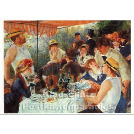 Taurus Kunst Doppelkarte | Pierre Auguste Renoir | Frühstück der Ruderer